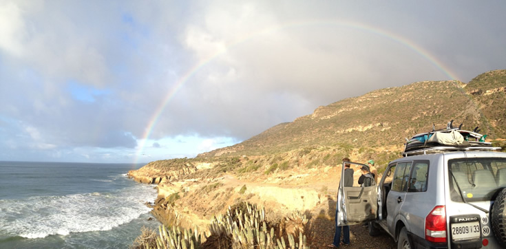Pot of gold at the end of the Moroccan rainbow.
